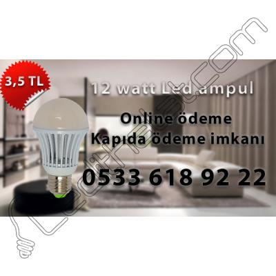 12 watt plastik led ampul