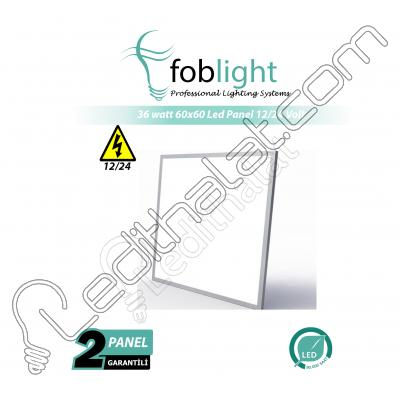 60x60 Sıva Altı 36 watt Led Panel 12 volt / 24 volt