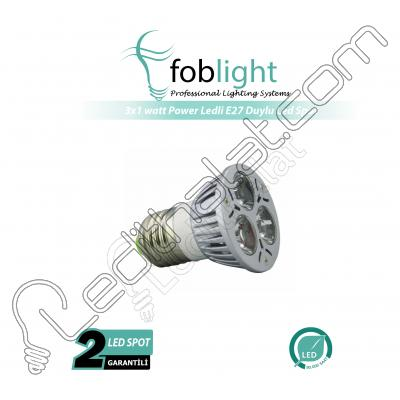 3x1 watt Power Ledli E27 Duylu Led Spot