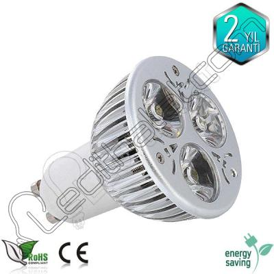 3x1 watt Power ledli GU10 duylu led spot