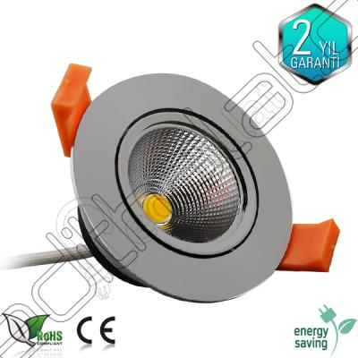 5 Watt Cob Krom Led Downlight