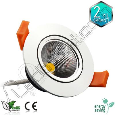 Foblight 5 watt cob led beyaz kasa downlight