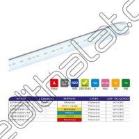 Erk Led Bar Alimünyumlu Camlı  72 Led 12 Watt IP63 ERK2091BG